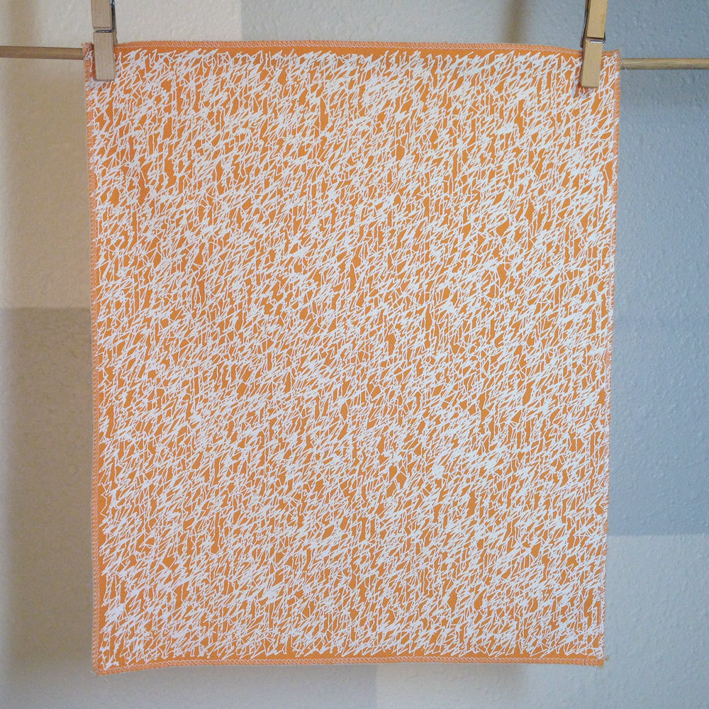 Scribbles - Hand Printed Fabric Panel