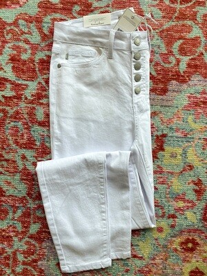White Button Fly Skinny