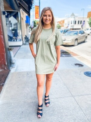 Olive T-shirt Dress