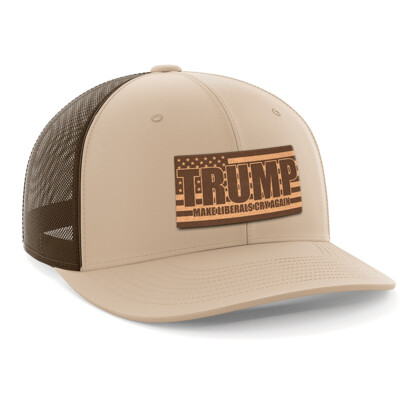 Hat - Leather Patch: Make Liberals Cry Again