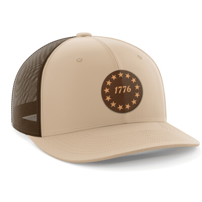 Hat - Leather Patch: 1776 Stars
