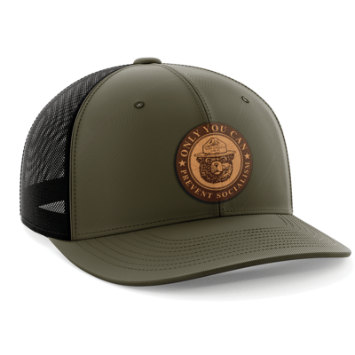 Hat - Leather Patch: Only You Can Prevent Socialism