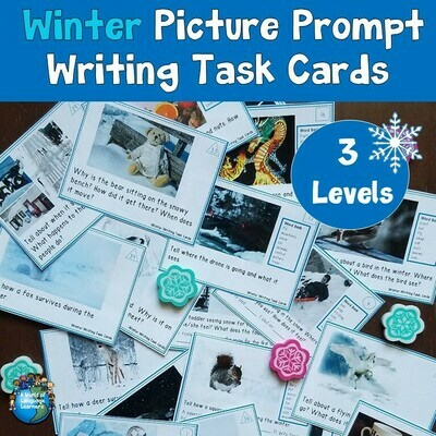 Winter Picture Writing Prompt Task Cards