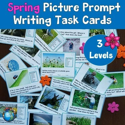 Spring Writing Prompt Picture Task Cards