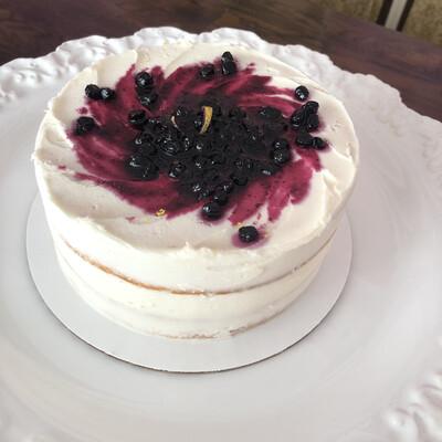Lemon blueberry 2 layer cake
