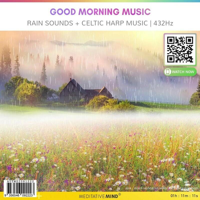 Good Morning Music - Rain Sounds + Celtic Harp Music l 432Hz
