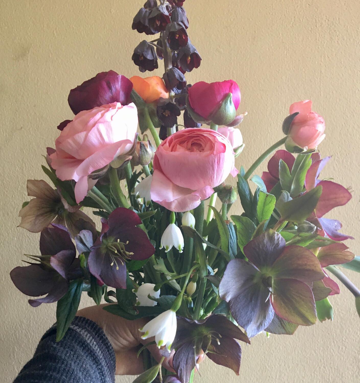 Seasonal Farm Bouquets For Pick Up At Burlington Farmers Market. Every Saturday Starting June 6th.