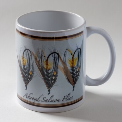 Akroyd Salmon Fly Mug - Triple Version 1