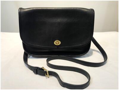 Vintage Coach City Bag, Leather Cross Body Bag 9790