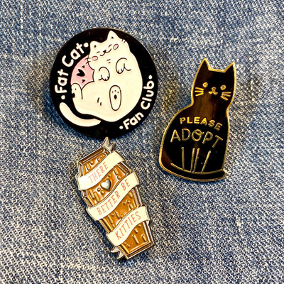 Kittens To Adapt Set Of Pins