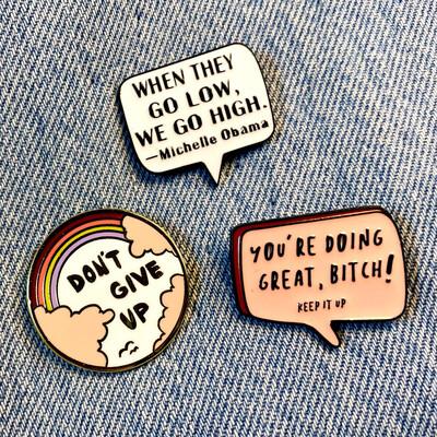 Positive Vibes Pin Set
