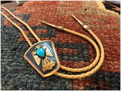 Vintage Phoenix On Copper With Turquoise