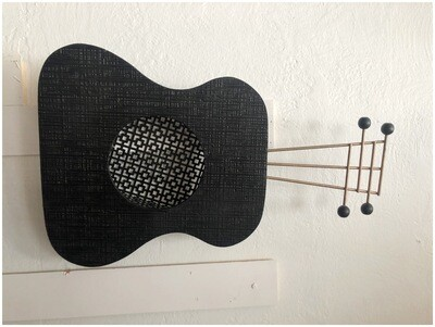 Vintage 1950's Guitar With Shelf Wall Art