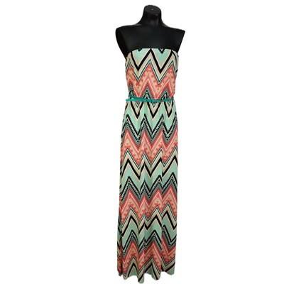 Modern Sleeveless Belted Maxi Dress