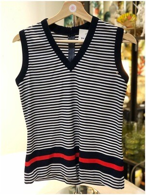 Vintage 1960's Sleeveless Striped Top