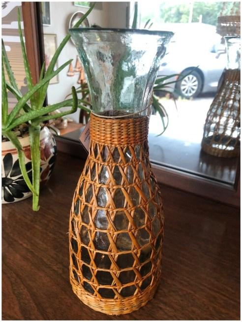 Vintage Boho Clear Wrapped Carafe