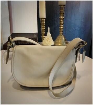 Modern Cream Coach Bleacher Crossbody Bag #4150