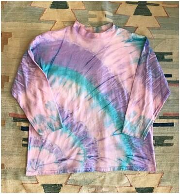 Vintage Tie Dye 3/4 Sleeves T-Shirt