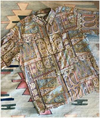 Men's Tori Richard Hawaiian Print Short Sleeve Button Down