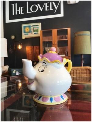 Vintage Treasure Craft Disney Mrs. Potts Ceramic Teapot