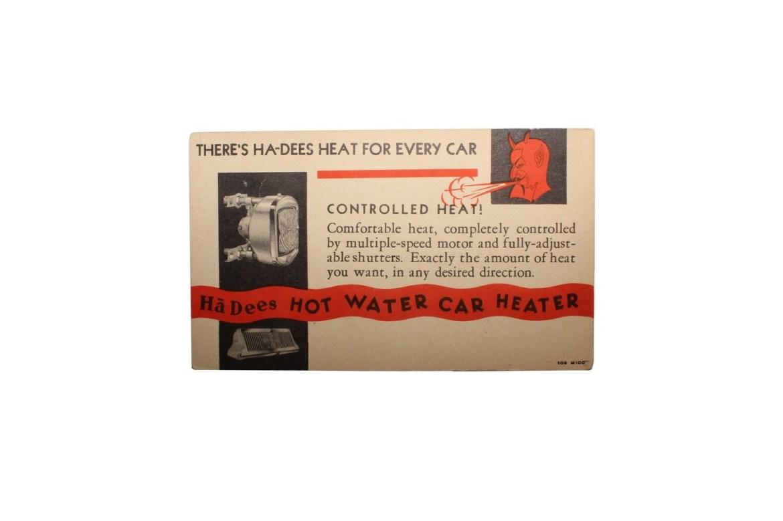 Ha-Dees Heat Advertising Postcard