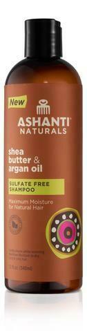 Ashanti Naturals-Shea Butter & Argan Oil Sulfate Free Shampoo