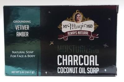 My Magic Mud Moisturizing Charcoal Coconut Oil Soap - Velvet Amber