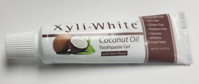 Travel Size Xyli•White Coconut Oil Toothpaste gel