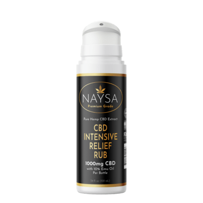 NAYSA Intensive Relief Rub with EMU oil - 1000 mg CBD