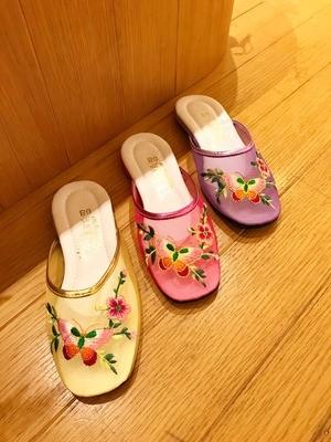 expo0623-蝴蝶梅花-繡花拖鞋鞋面工作坊