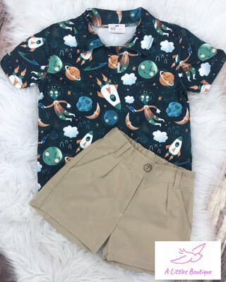 (161-1) Out Of This World Short Set 2T