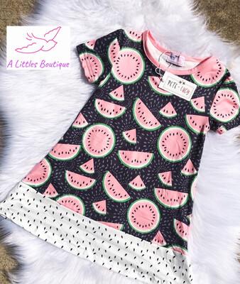 (154-1) Watermelon Dress 4T