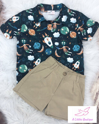 (161-3) Out Of This World Short Set 4T