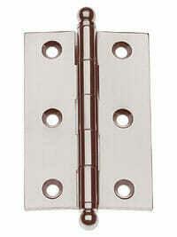 PAIR Morris Hardware Five Knuckle-Loose Pin Mortise Cabinet Hinge 1`.5