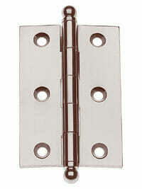 Von Morris Hardware Five Knuckle-Loose Pin Mortise Cabinet Hinge 2.5