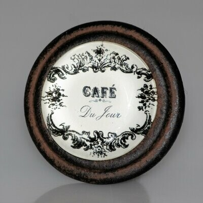 Charleston Knob Company Cafe Collection Organic Cuisine Cafe Brown Iron Cabinet Knob