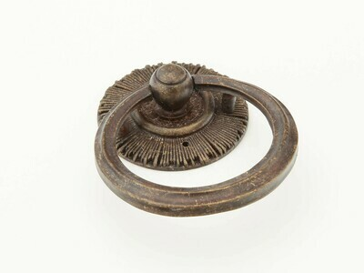 Schaub & Company Symphony  Sunburst Collection Cabinet  Ring Pull w/Backplate, Highlighted Bronze