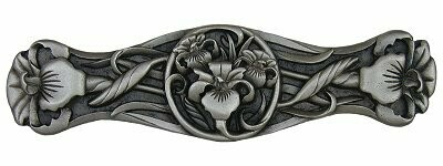 Notting Hill Cabinet Pull River Iris Antique Pewter  3-7/8