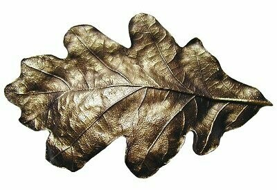 Notting Hill Cabinet Hardware Oak Leaf Cabinet Bin Pull Antique Brass 4-5/8