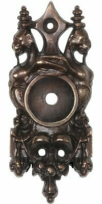 Notting Hill Cabinet Hardware Griffin Back Plate Dark Brass   1-1/4