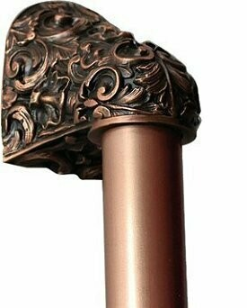 Notting Hill Cabinet Hardware Acanthus/Plain Bar Antique Copper Overall 12