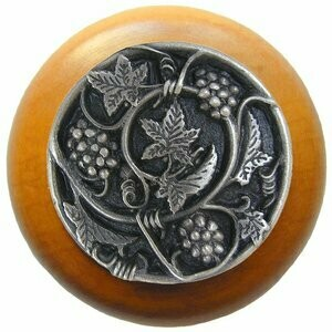 Notting Hill Cabinet Knob Grapevines/Maple Antique Pewter 1-1/2