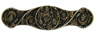 Notting Hill Cabinet Pull Grapevines Antique Brass 4