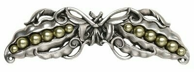 Notting Hill Cabinet Pull Pearly Peapod Antique Pewter 5