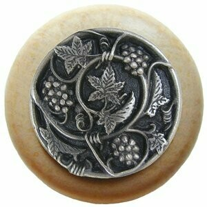 Notting Hill Cabinet Knob Grapevines/Natural Antique Pewter 1-1/2