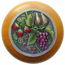 Notting Hill Cabinet Knob Tuscan Bounty/Maple Pewter Hand Tinted  1-1/2
