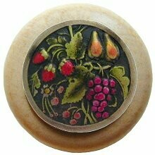 Notting Hill Cabinet Knob Tuscan Bounty/Natural Brass Hand Tinted 1-1/2