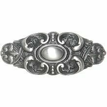 Notting Hill Back Plate Queensway  Antique Pewter 2-5/8