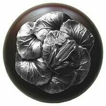Notting Hill Cabinet Knob Leap Frog/Dark Walnut Antique Pewter 1-1/2