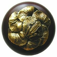 Notting Hill Cabinet Knob Leap Frog/Dark Walnut Antique Brass 1-1/2